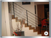 Stair balustrades with the light look